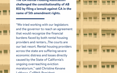 California Rental Housing Association Challenged the Constitutionality of AB 832