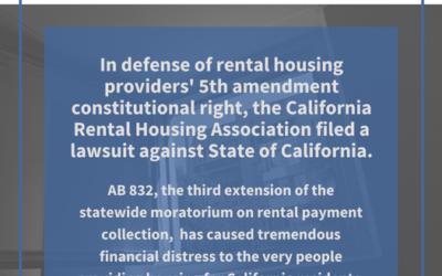 In Defense of Rental Housing Providers' 5th Amendment Constitutional Right, CalRHA Files a Lawsuit Against the State of CA